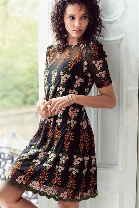 Dress The Next black embroidered dress endource