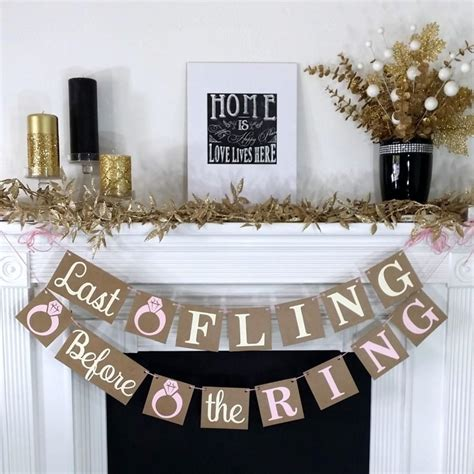 Bachelorette Decoration Ideas by Bachelorette Banner Last Fling Before The Ring Banner