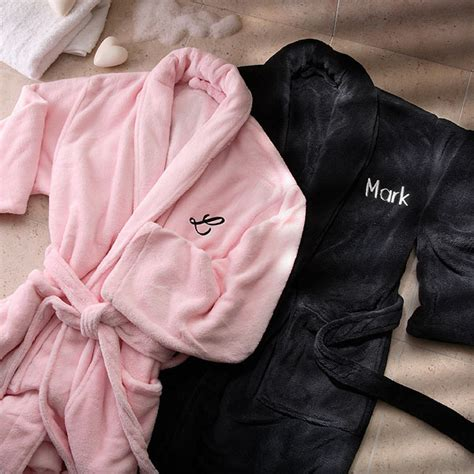 Rumauma Exclusive Teddy Hers For Anniversary Gift 3568 his hers embroidered luxury fleece robes