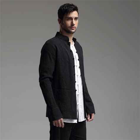 Frog Button Jacket excellent frog button flax jacket black