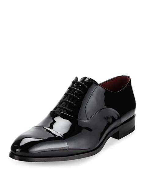 patent toe cap oxford shoes magnanni for neiman cap toe patent leather oxford