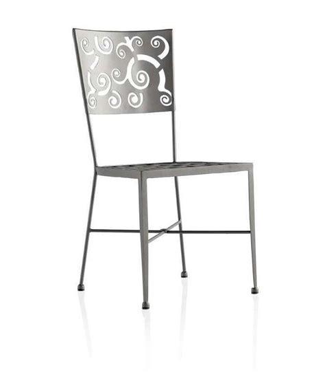sillas de dise o economicas silla de forja con dise 241 o en el respaldo
