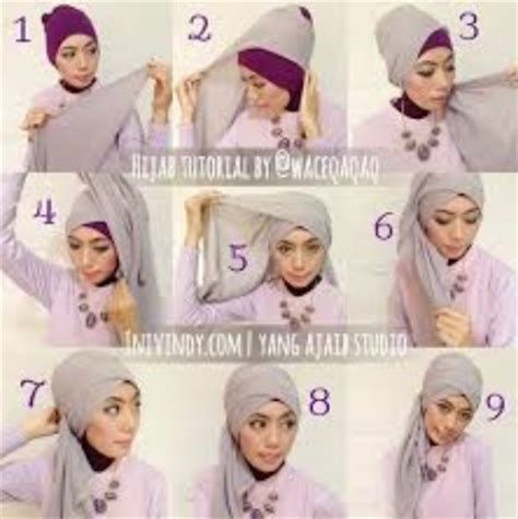 tutorial jilbab paris resmi cara memakai jilbab kreasi jilbab paris untuk ke pesta
