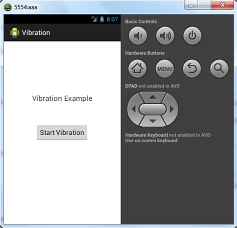 tutorial android phone android tutorial vibration virbrate phone exle