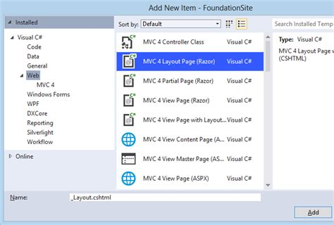 include layout in view mvc create asp net mvc websites css ui kits frameworks