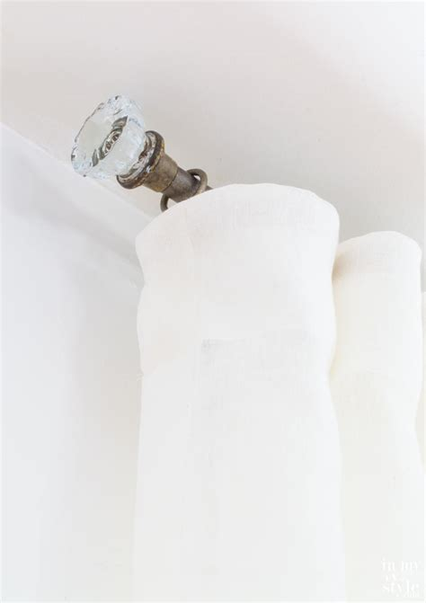 door knob industrial pipe curtain rods in my own style