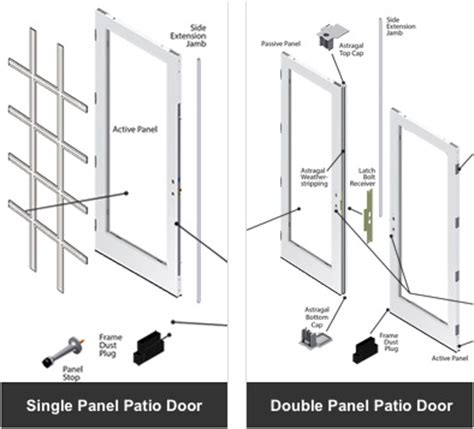 andersen window door parts doors parts andersen gliding sliding swinging patio door