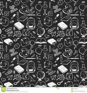 seamless pattern with various elements for drawn in