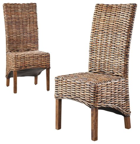 Tropical Dining Chairs Isla Side Chairs Set Of 2 Tropical Dining Chairs By Hedgeapple