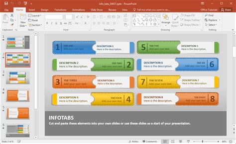 how to create powerpoint template create animated infographics with info tabs powerpoint