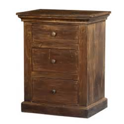 frontier rustic mango wood night stand end table mini chest