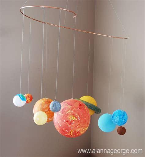 diy solar system mobile cute hanging in bedroom olis