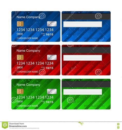 credit card templates for sale vector credit card template royalty free stock images