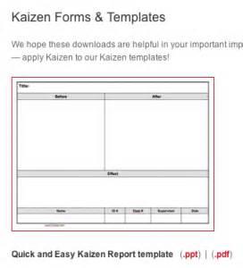 kaizen templates resources healthcare kaizen
