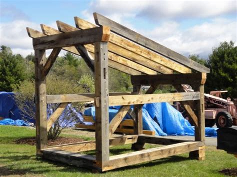 timber frame shed plans google search garden