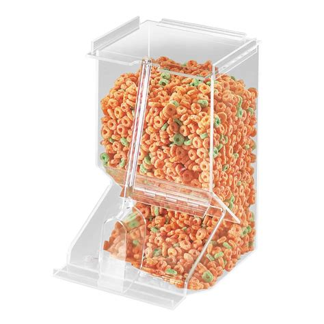 Dispenser Sanken Hwn 656 W Cal Mil 656 Stackable Acrylic Bulk Cereal Dispenser W 450 Cu In Capacity Clear