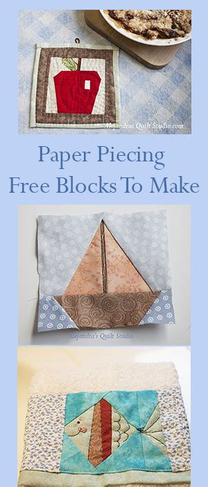 How To Make Paper Blocks - patchwork quilt with paper piecing free patterns