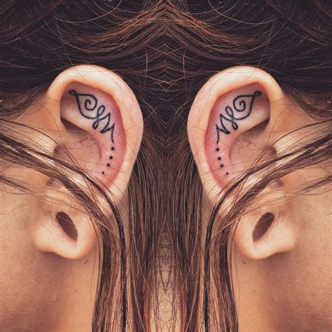 earlobe tattoo designs best 25 ear tattoos ideas on moon tatto