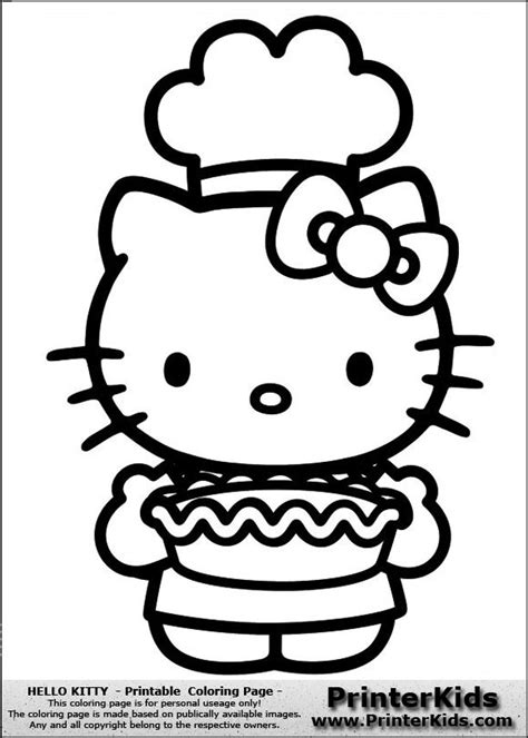 hello kitty cooking coloring pages 1000 images about hello kitty coloring pages on pinterest