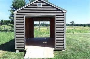 10 x 18 shed with drive thru roll up garage doors 7