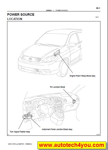 auto repair manual online 2004 toyota matrix spare parts catalogs toyota matrix service manual 2003 service spare parts catalog