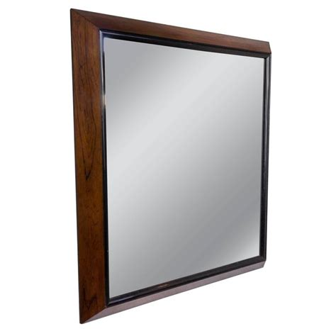 mid century modern mirrors large mid century modern rosewood framed mirror for sale