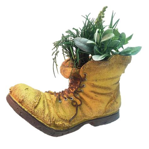 Garden Boot Planter by Toad Hollow 10 1 2 In Boot Planter Garden Statue