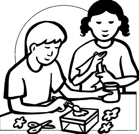 arts and crafts coloring pages coloring pages