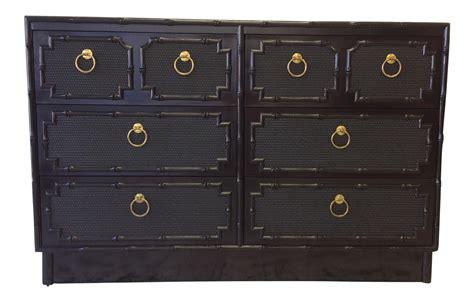 black faux bamboo dresser omega furniture black lacquer faux bamboo dresser chairish