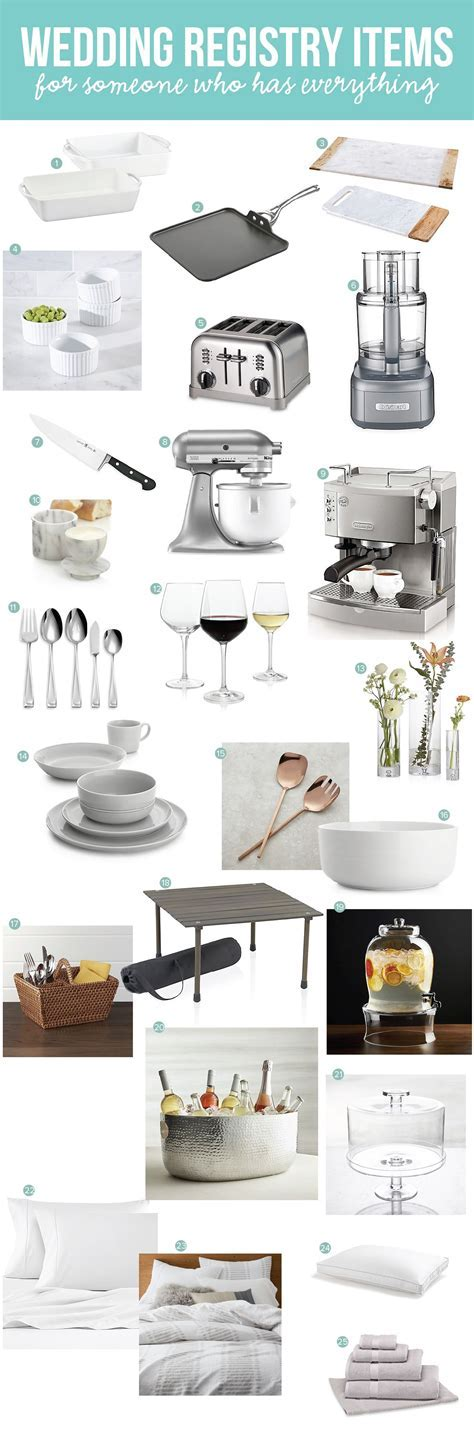 What to Put On Your Wedding Registry When You Have Everything