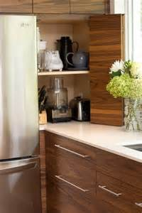 Big Kitchen Designs Holz K 252 Che Elektroger 228 Te Verstecken Klappt 252 R Regal K 252 Che
