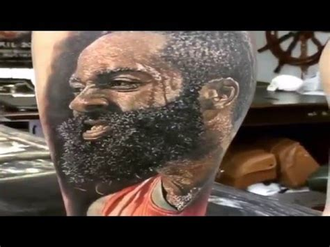 james harden tattoos fan gets a detailed of harden and i must