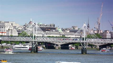 thames river cruise summer timetable london england circa 2015 ferry cruises on the river