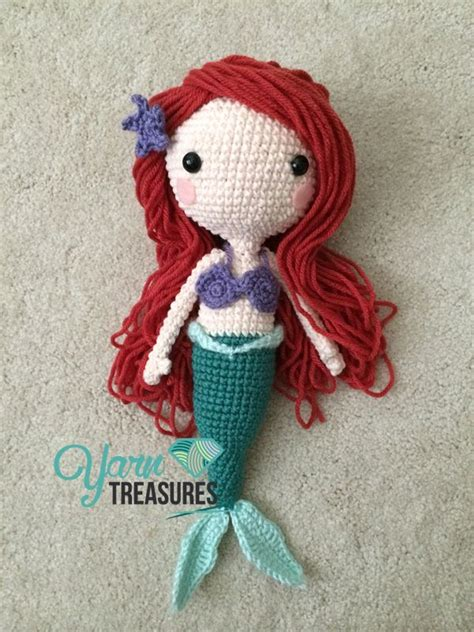 pattern for yarn doll amigurumi ariel doll hair tutorial here http www