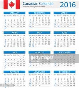 A C T Calendar Canada Calendar 2016 Vector Getty Images