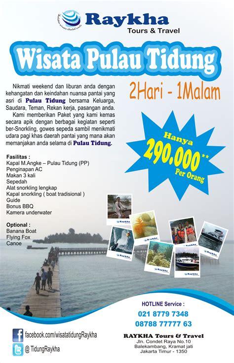 pulau tidung  brosur raykha tours travel raykhatours
