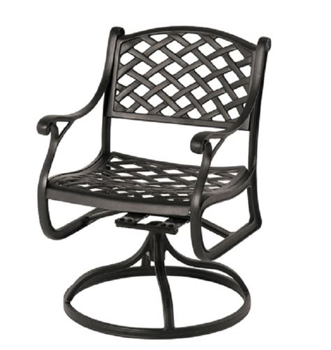 patio furniture with swivel chairs newport by hanamint luxury cast aluminum patio furniture