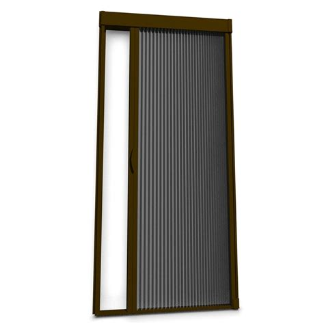 screen curtain door shop larson inspire brownstone aluminum retractable