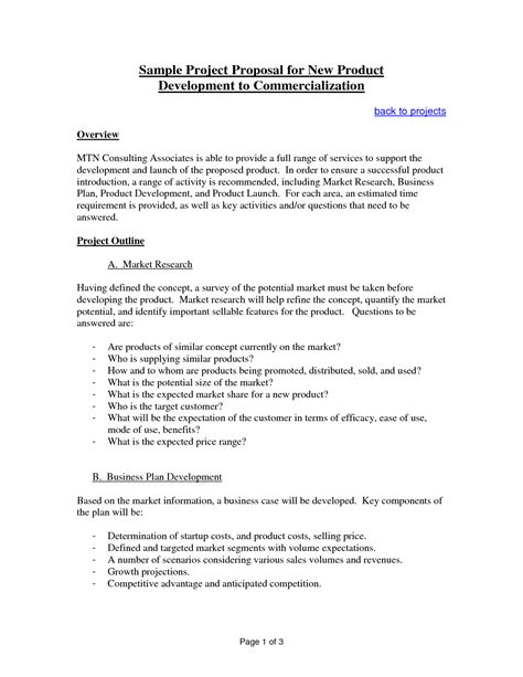 project proposal sle for students templates