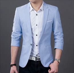 Discount Casual Blue Suits For Men Weddings   2017 Casual