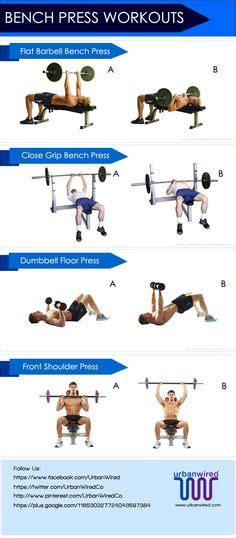 bench press exercise chart 1000 ideas about bench press workout on pinterest bench