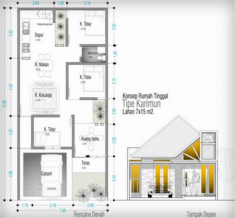 rumah minimalis yes rumah minimalis ukuran tanah 8x12
