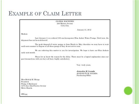 Claim adjustment letter sample job cover letter uk template sample business letters thecheapjerseys Choice Image