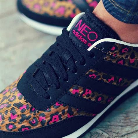 adidas neo kicks with pink leopard accents shoes leopards adidas and pink