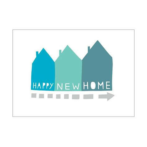 happy in your home card happy new home new home blue