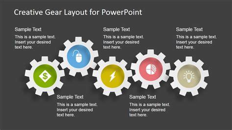 powerpoint gear template 009 elearningart creative gear layout powerpoint template slidemodel