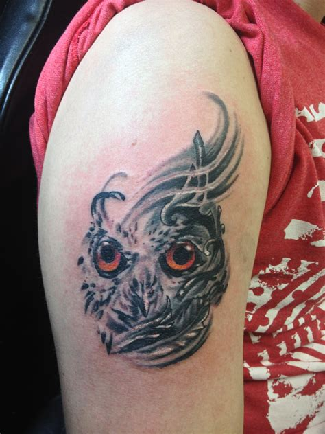 abstract owl tattoos