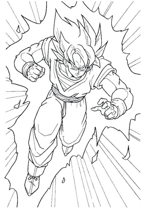 dragon ball z goku super saiyan 2 coloring pages dragon ball af coloring pages