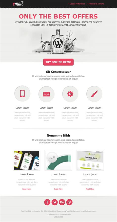 clean html email template free mail templates
