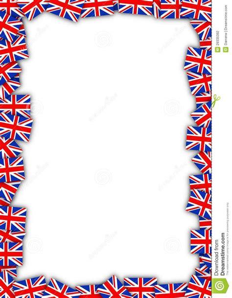 cornice in inglese uk flag frame stock illustration illustration of
